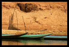 Boats on the Bank of Mekong River | Nong Khiaw | Laos