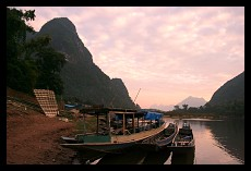 Sunset above Mekong | Nong Khiaw | Laos
