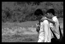 Friends Going from the School | Nong Khiaw | Laos