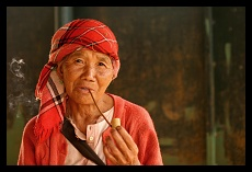 Old Woman Smoking Opium | Chiang Rai Province | Thailand