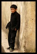 Boy Waiting for Parents on the Market | Dong Van Highland | Vietnam